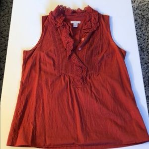 J.Crew rust sleeveless tank sz 0
